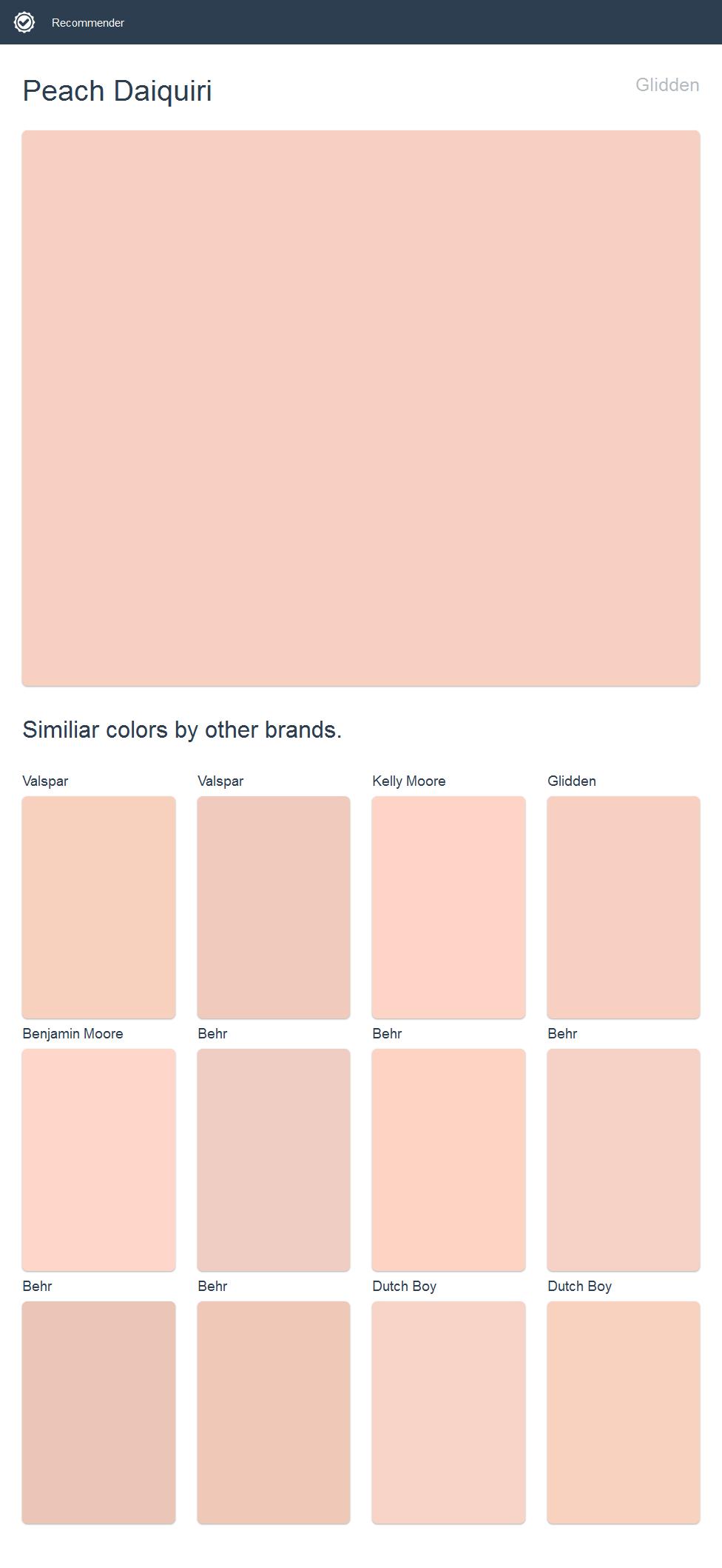 Peach Daiquiri, Glidden Click The Image To See Similiar Colors
