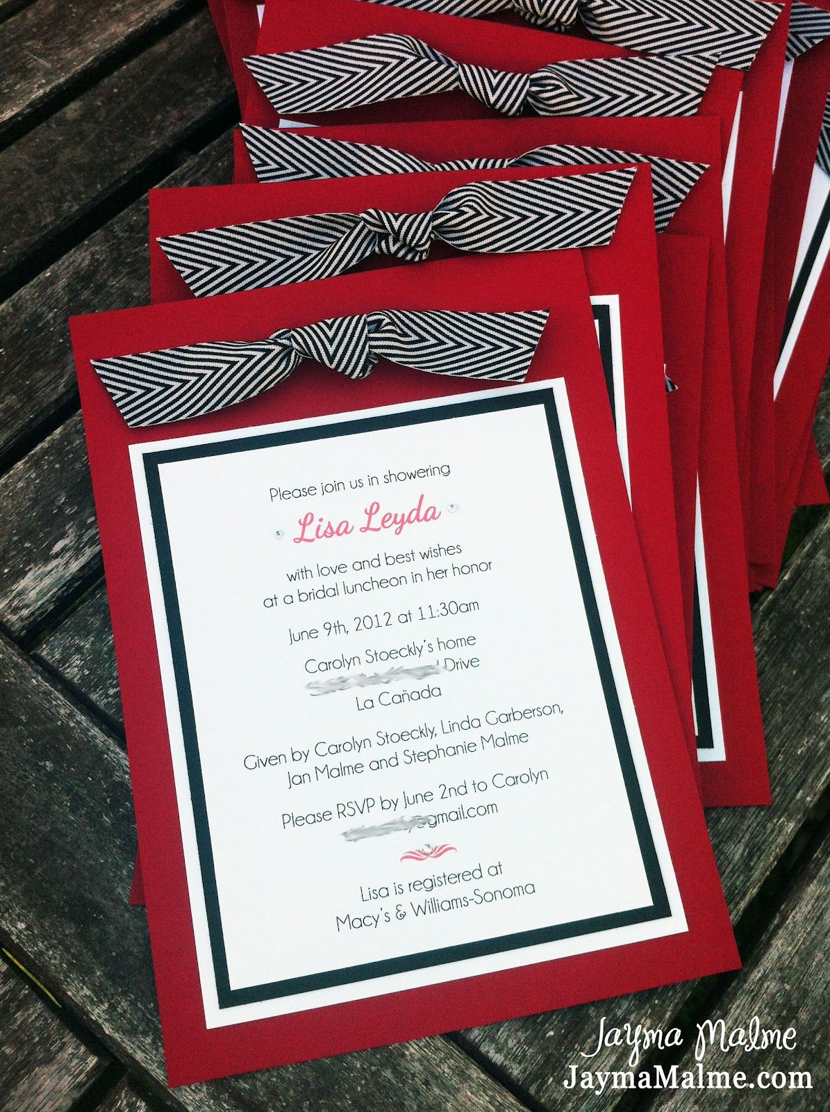 Blank Red And Black Wedding Invitations Google Search