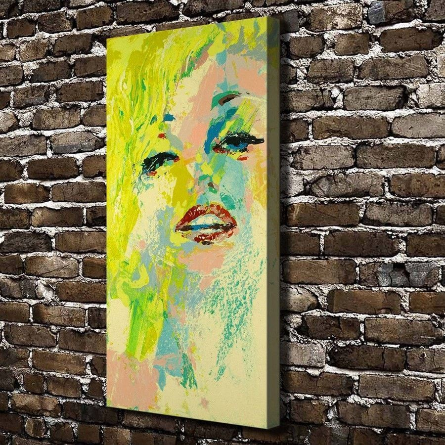LeRoy Neiman Abstract Yellow Hair Girl Painted Canvas Wall Art ...