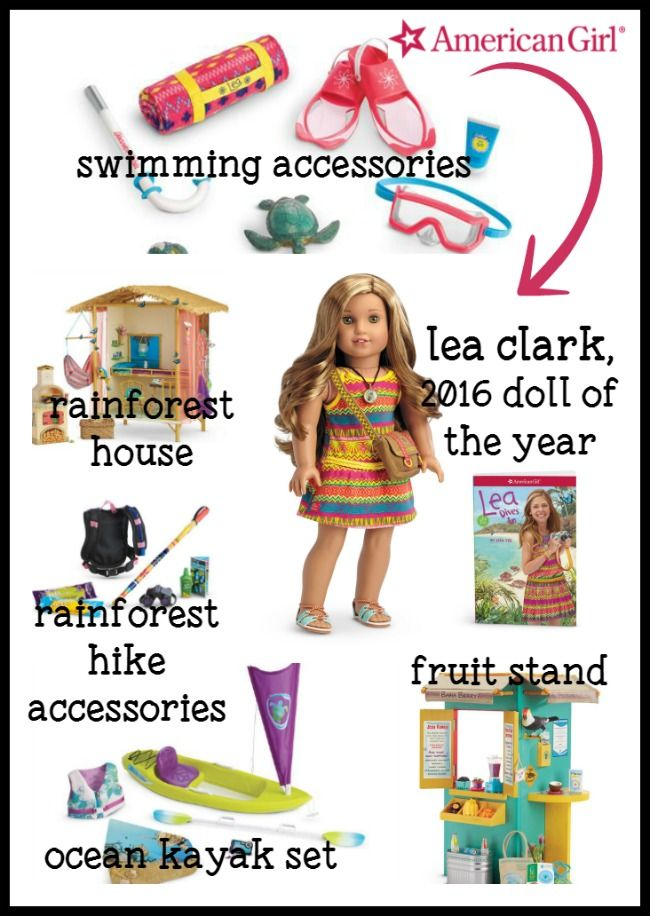 American Girl Doll Of The Year Lea's Rainforest Hiking Outfit /& Accessories