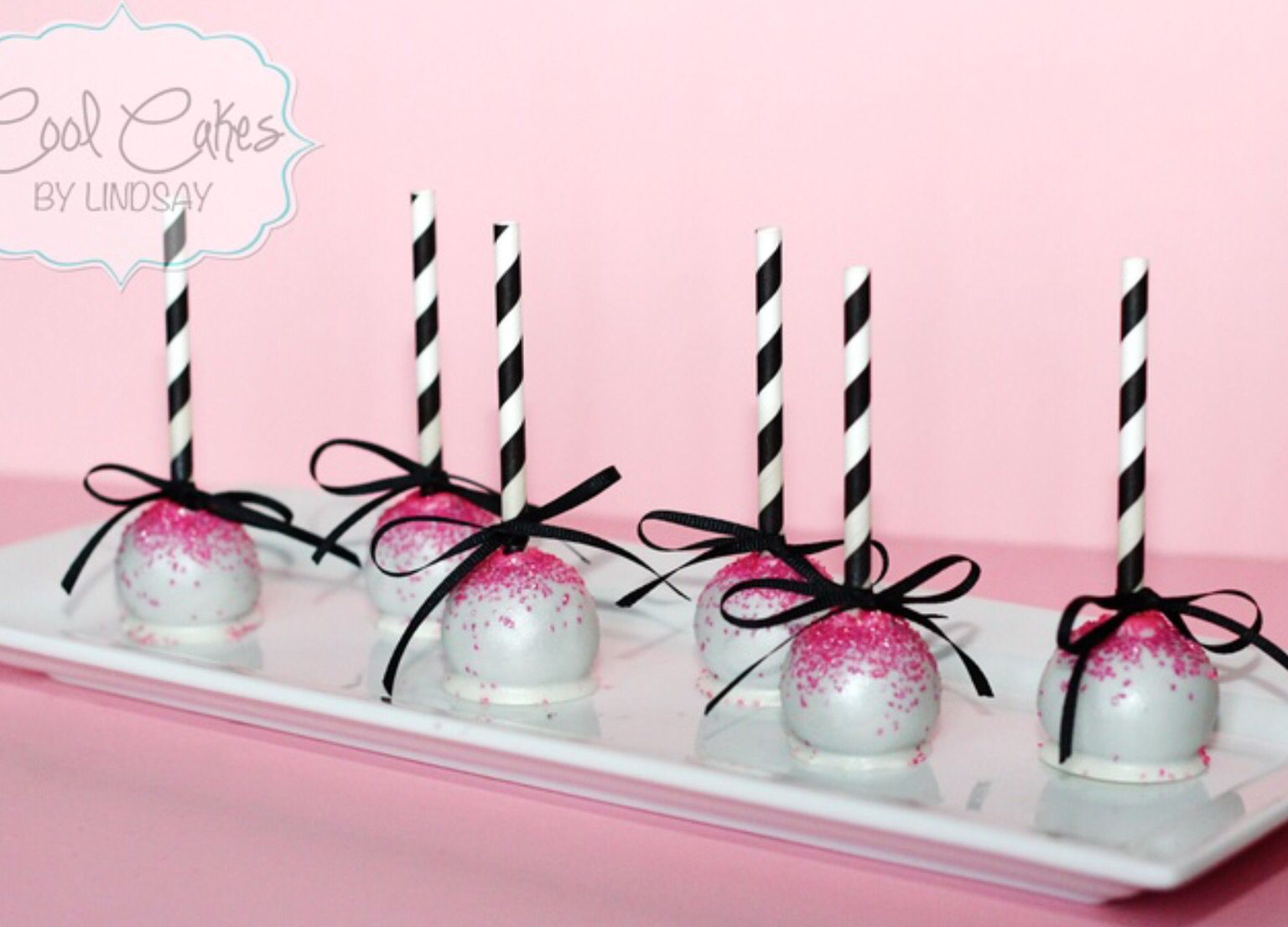 Pin by Renee Harless on Gender reveal | Pink cake pops, Pure romance party food, White cake pops