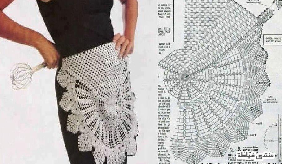 Delantal Crochet Patron - Patrones Crochet | Crochet For the Home ...
