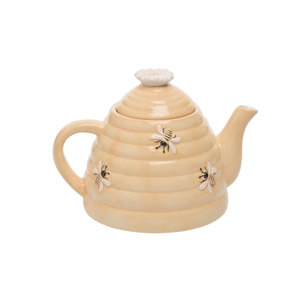 This beautiful piece from Transpac's Country Market collection is sure to bring some added flair to your Spring season! Made of dolomite, this beehive teapot is the perfect addition to your home assortment - or a gift for those who matter the most!
