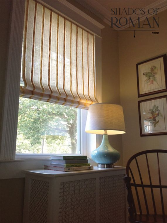 Roman Shades made to your specifications.  Can be made with your own fabric.  shadesofroman.com