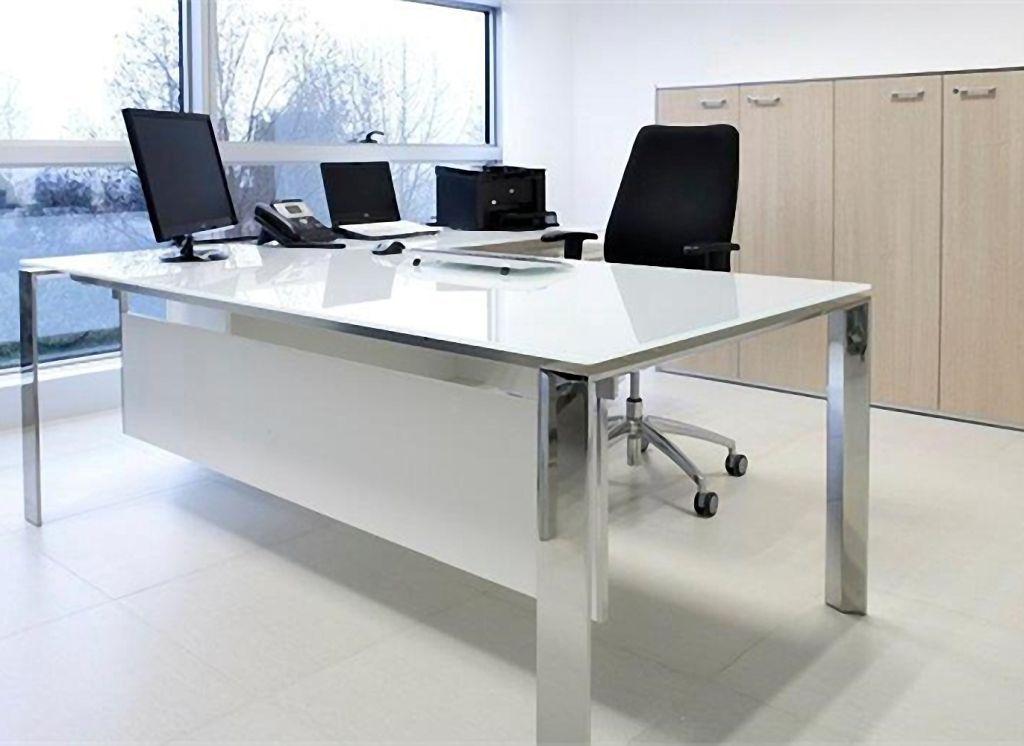 Treviso Glass Desks Glass Desk Office Glass Desk