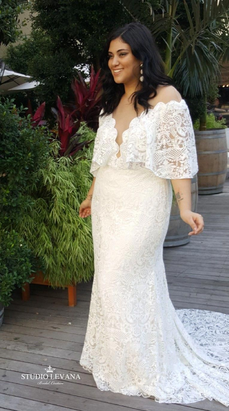 Bohemian Light Plus Size Wedding Dress In Vintage Lace With Plus Size Wedding Dresses With Sleeves Destination Wedding Dress Simple Wedding Dress With Sleeves [ 1368 x 765 Pixel ]