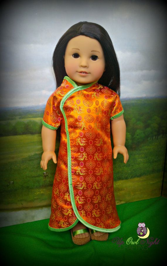 orange chinese new year outfit by upwolnighcrafting on etsy made with the ming lin pattern - Chinese New Year Outfit