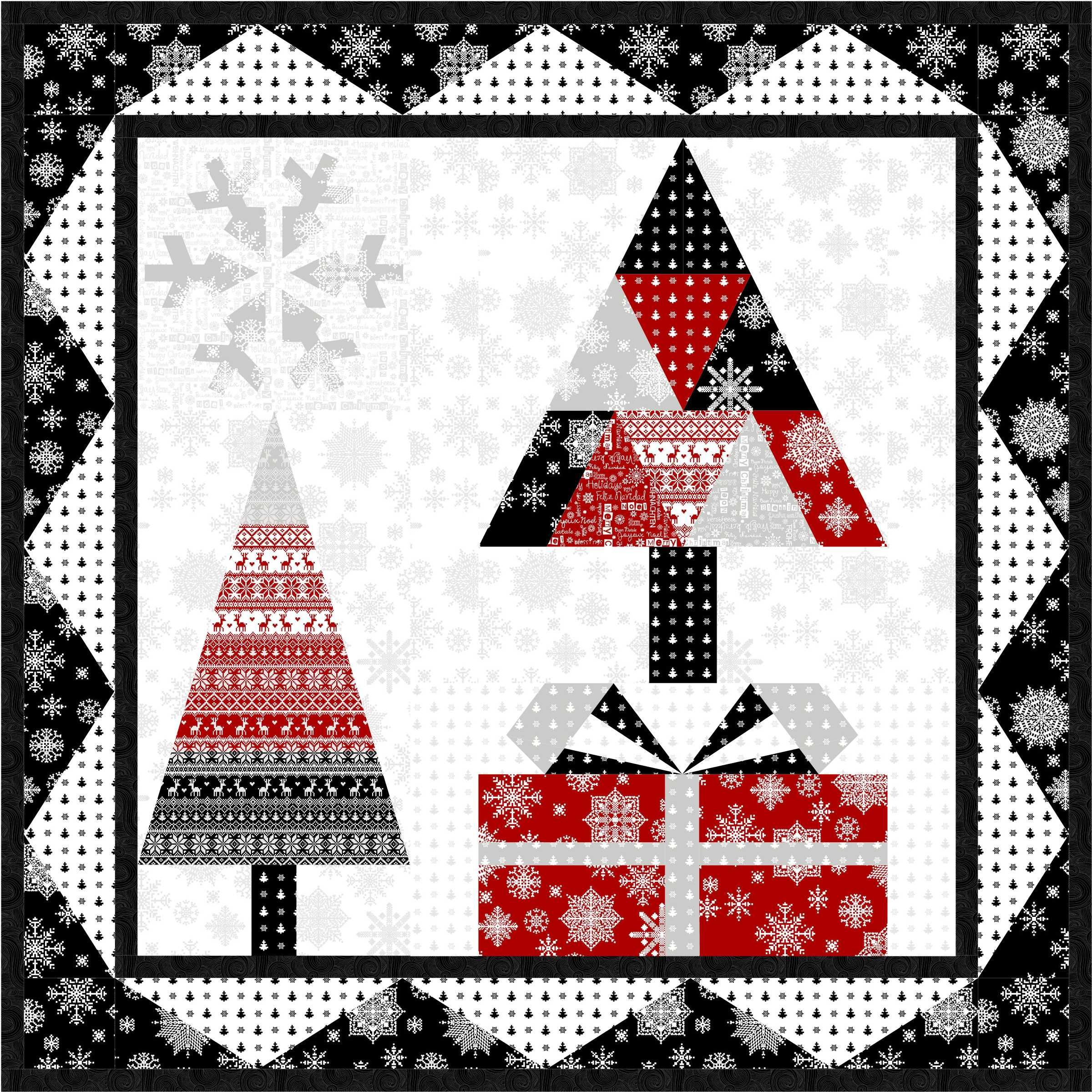 Christmas Tree Table Runner Quilt Pattern: Now Available As A Free Download! Product: Winter