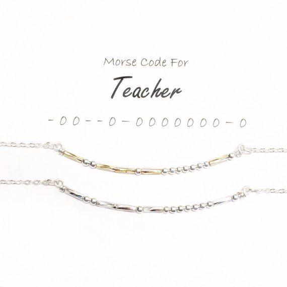 Necklace for Teacher, Gift for Teacher, Gift from student
