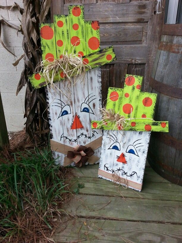 Pallet Scarecrows Fall Decor Pallet Pumpkin Wood