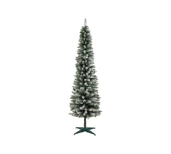 f03c68a53961 Buy Argos Home 6ft Snow Tipped Pencil Christmas Tree - Green at Argos.  Thousands of