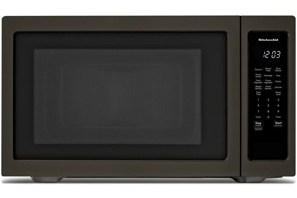 Kitchenaid 24 Countertop Microwave Oven Printshield Black Stainless 1200 W Kitchenaid In 2020 Countertop