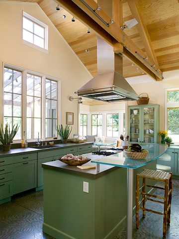 Vaulted ceiling kitchen ideas task lighting range hoods for Vaulted ceiling kitchen designs