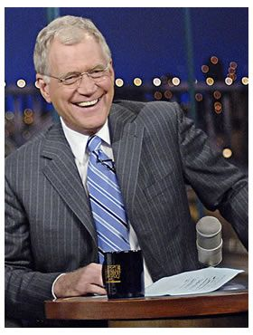 What a cool guy. David Letterman on The Late Show with David Letterman. Duh!