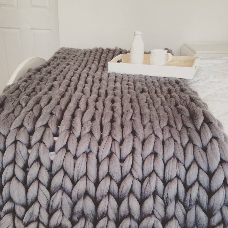 giant hand knitted super chunky throw knit pinterest deko wohnen und sch ner wohnen. Black Bedroom Furniture Sets. Home Design Ideas