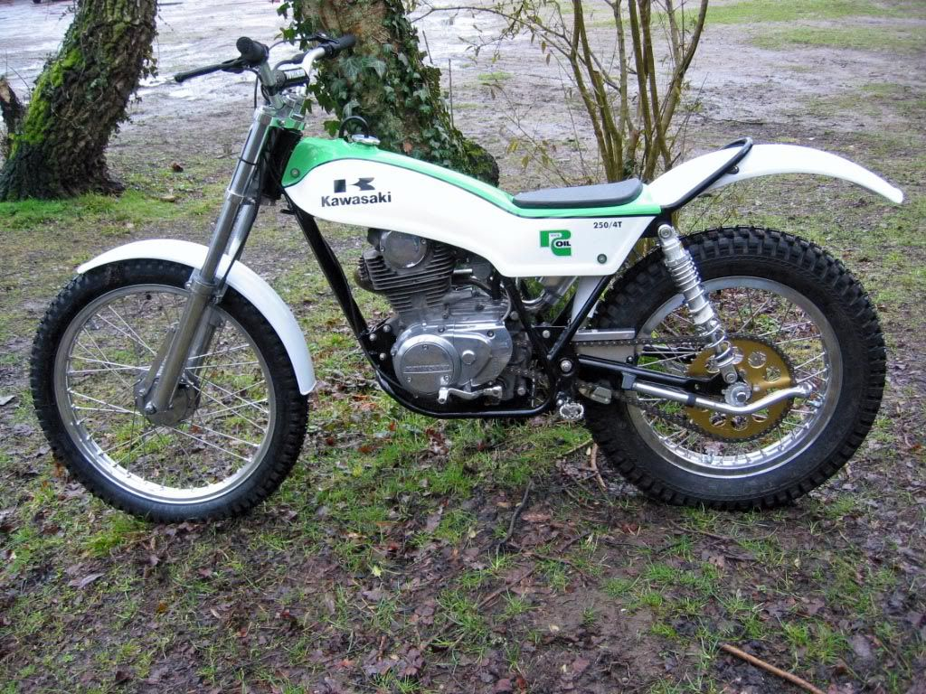 Image result for 1978 KAWASAKI 250 FOUR STROKE TRIALS