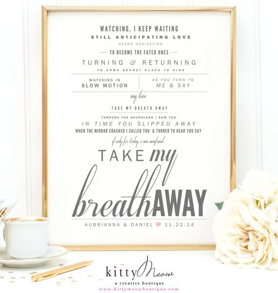 """Old Love Songs For Wedding: Gray & Coral, Berlin """"Take My Breath Away"""""""