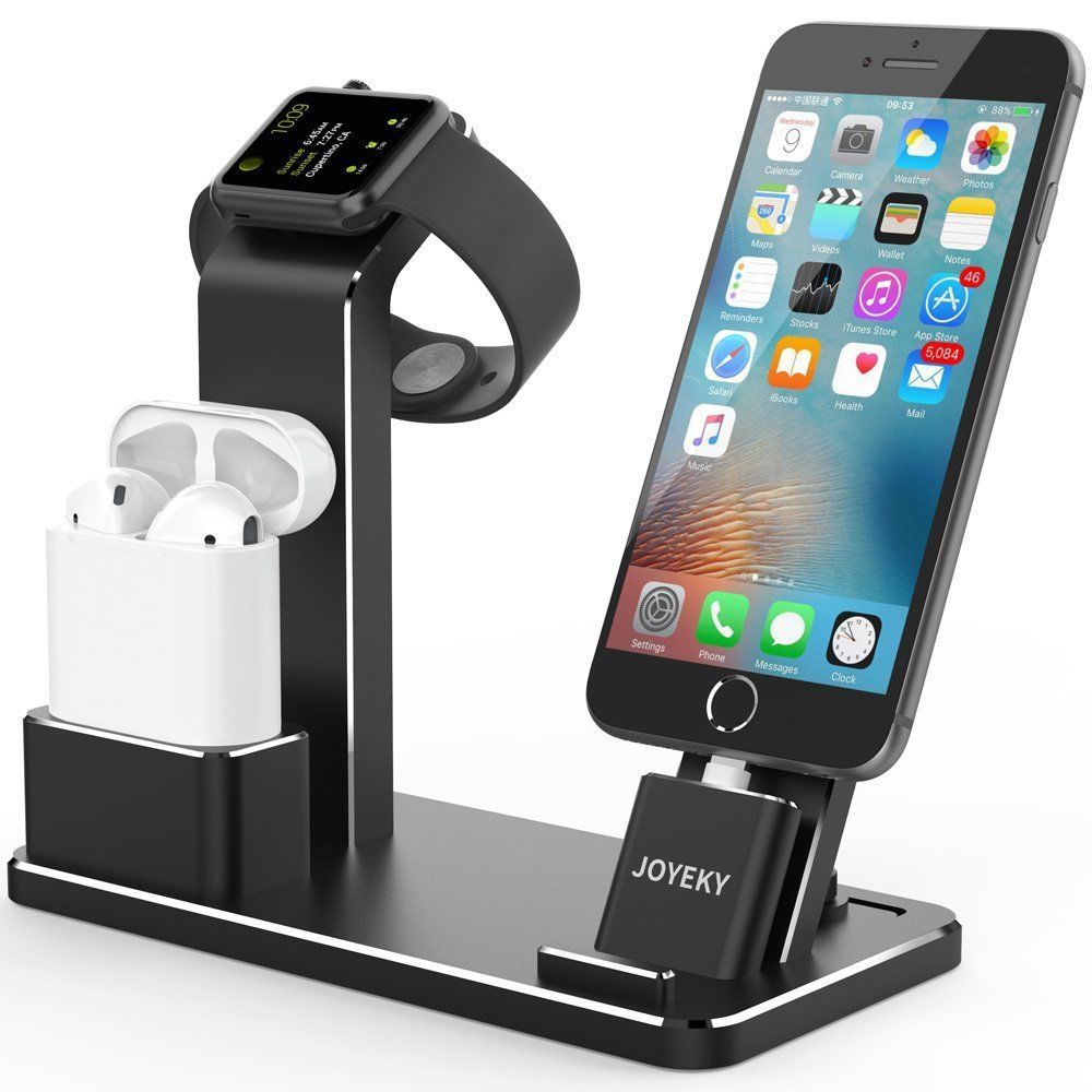 Jesky Apple Watch Charger Dock Airpods Stand Aluminum 4 In 1 Charging Dock Joyeky Apple Watch Charger Apple Watch Charging Apple Watch Charging Stand