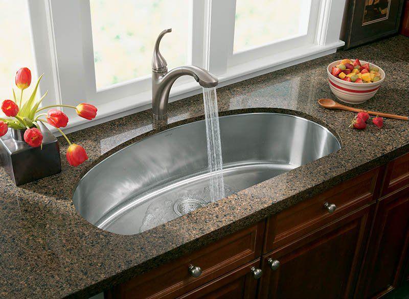 Kohler Undertone 38 Single Basin Under Mount 18 Gauge Stainless Steel Kitchen Sink With Silent Shield