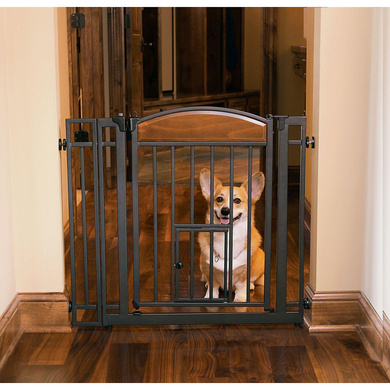 Carlson Pet Products Design Studio Metal Walk Thru Pet Gate Pet