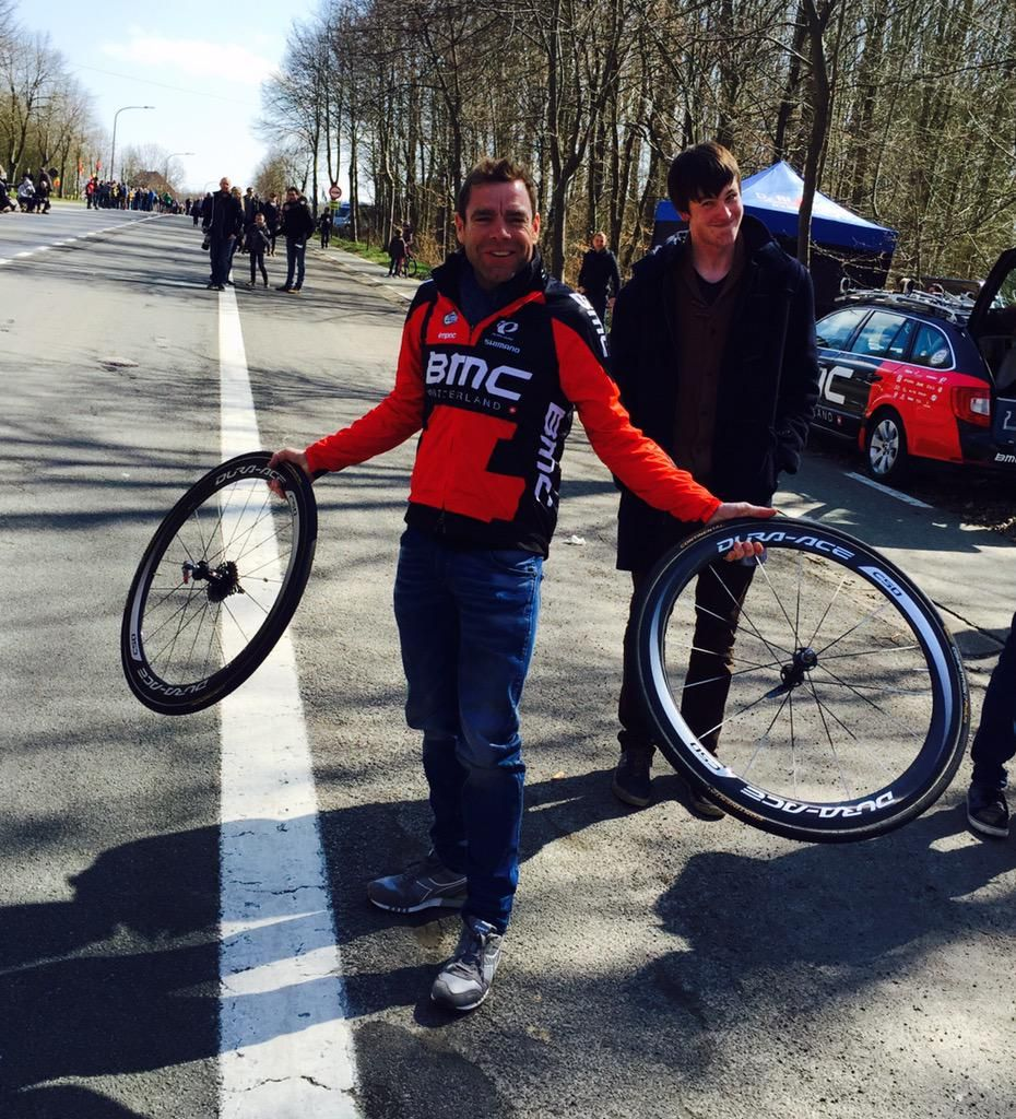 Cadel Evans @CadelOfficial What's everyone laughing for? They've never seen me work?  #RVV #bmcfan