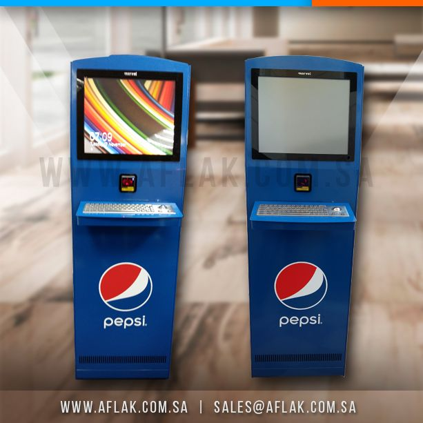 Self Service Kiosks Installed By Aflak For One Of Our Prestigious Clients Pepsico In Riyadh Saudi Ara Office Furniture Solutions Retail Solutions Installation