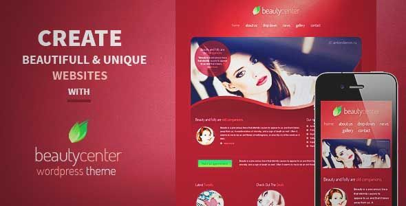 Download and review of Beauty Center - Responsive Wordpress Theme ...