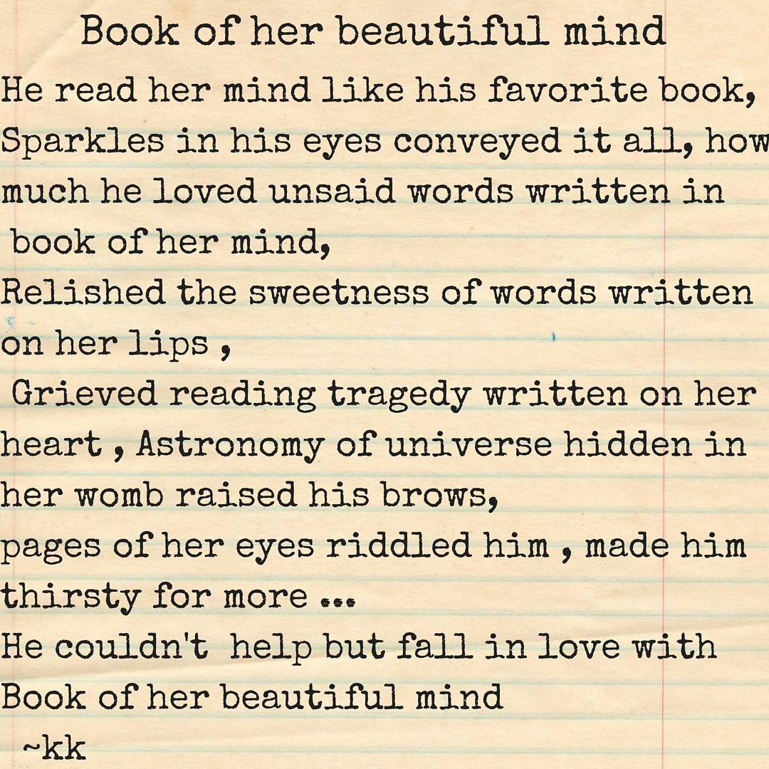 Book of her beautiful mind love poem quote poetry short poem