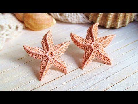 DIY Aquamarine Starfish Earrings Polymer Clay Tutorial Maive Ferrando