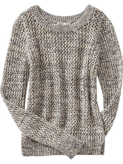 Old Navy | Women's Rib-Knit Crochet Sweaters | Fashion | Pinterest ...
