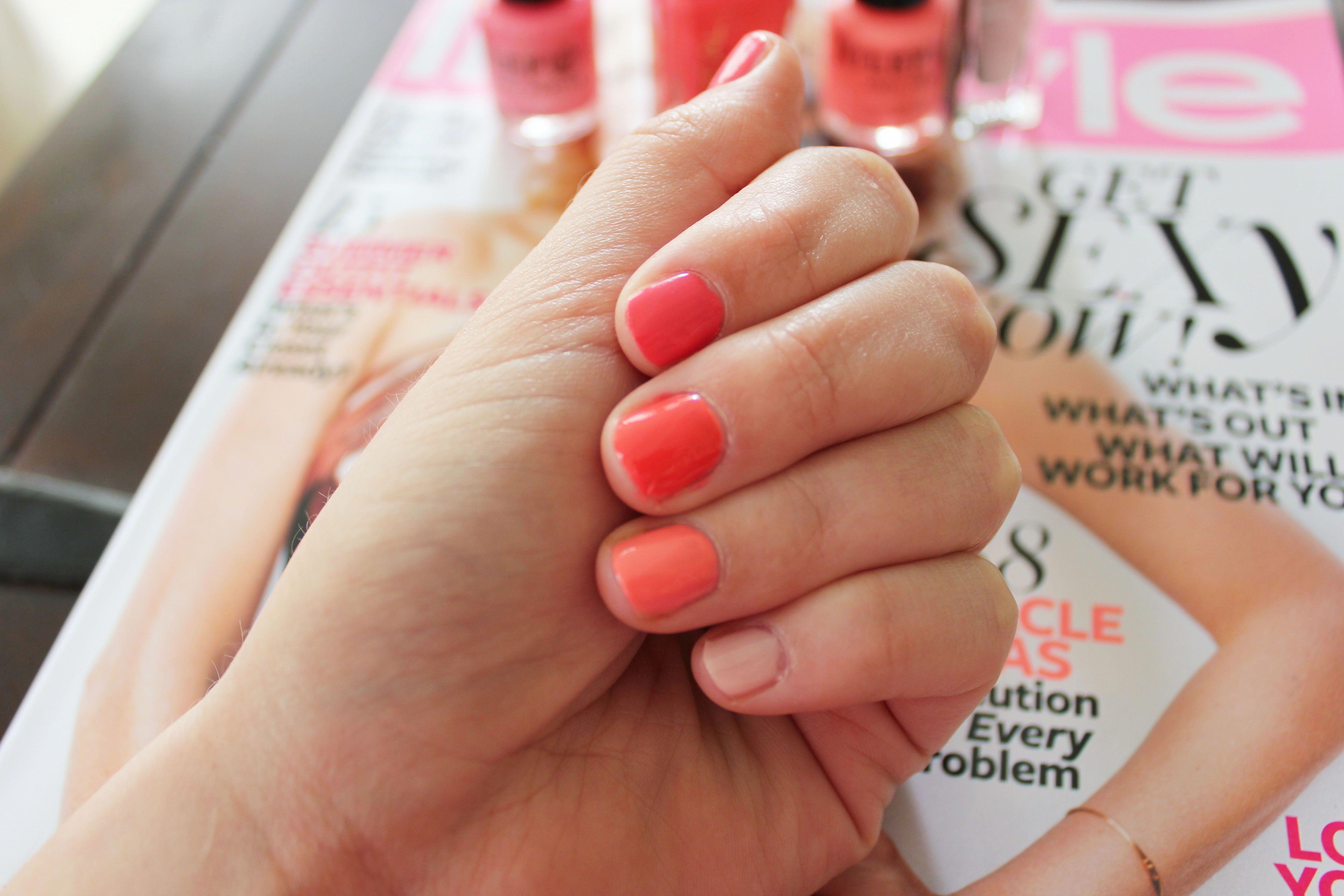 Pin by Jenny Bruderer on Nails   Peach acrylic nails