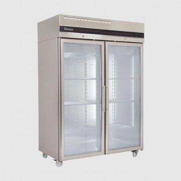 Inomak 1440wmm Upright Ss Double Glass Door Fridge Ce2140cr