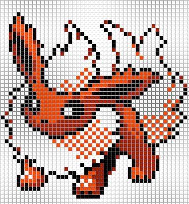 Pixel Art Pokemon Bizugui Pixel Art Pokemon Pixel Art Minecraft Point De Croix Pokemon