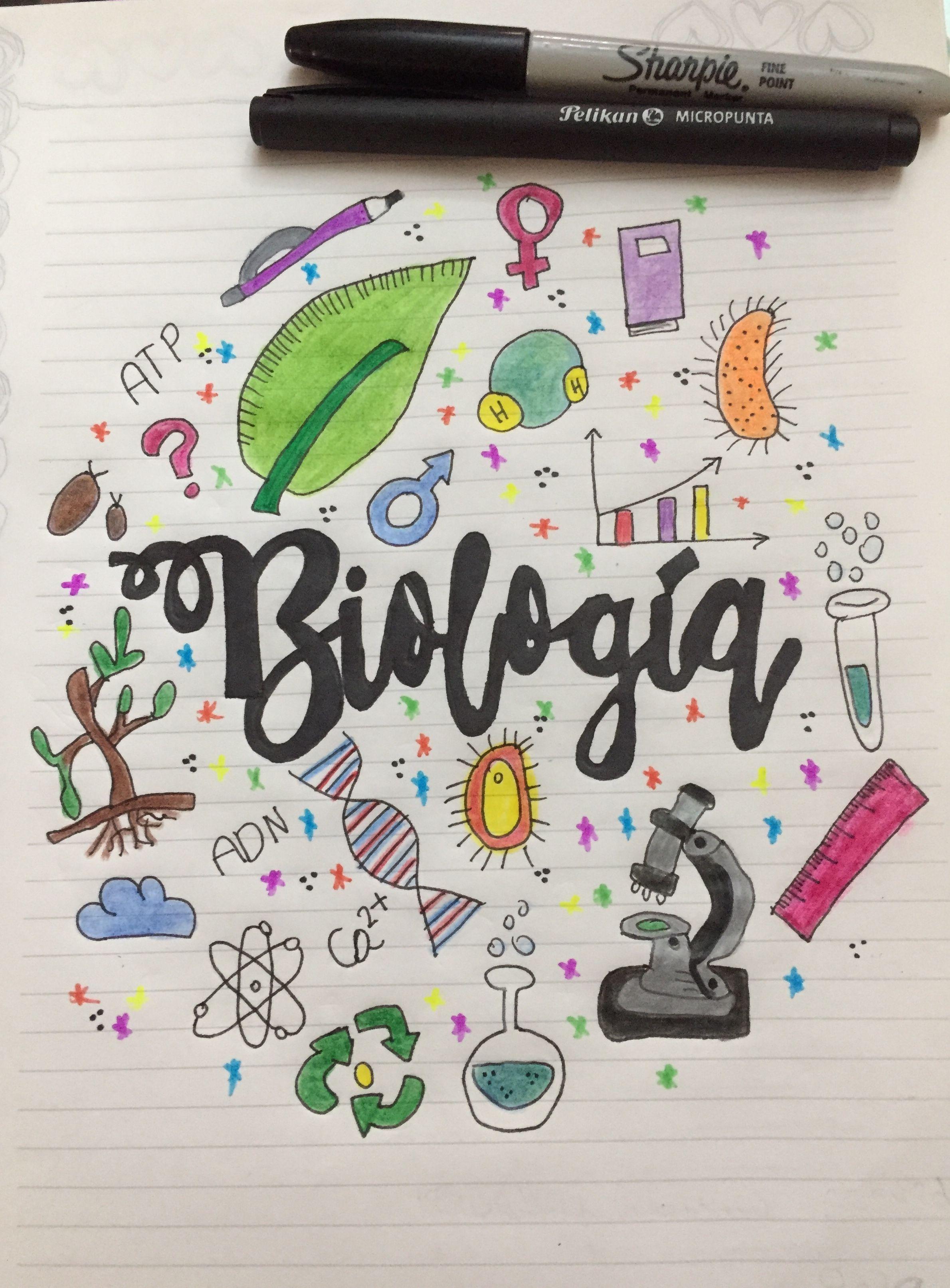 Portada De Biología Portada De Cuaderno De Ciencias