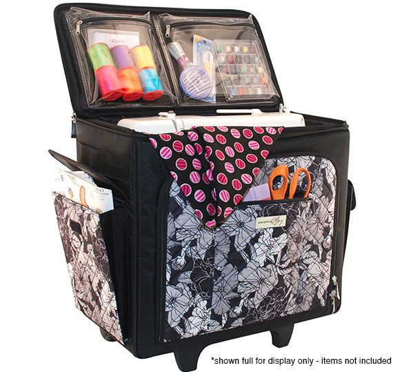 Everything Mary - Quilted Sewing Machine Rolling Tote ...