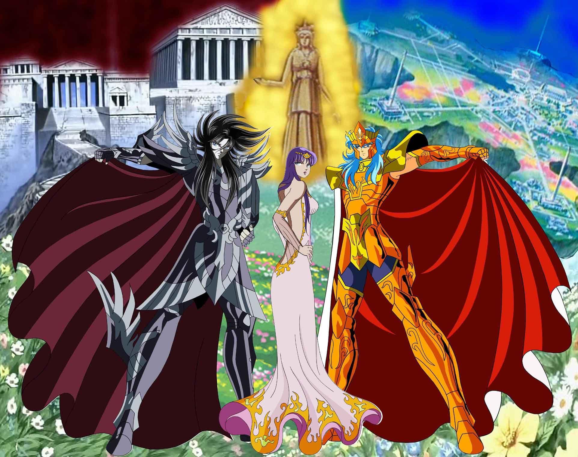Hades, Poseidon e Athena   Cavaleiros do zodiaco anime