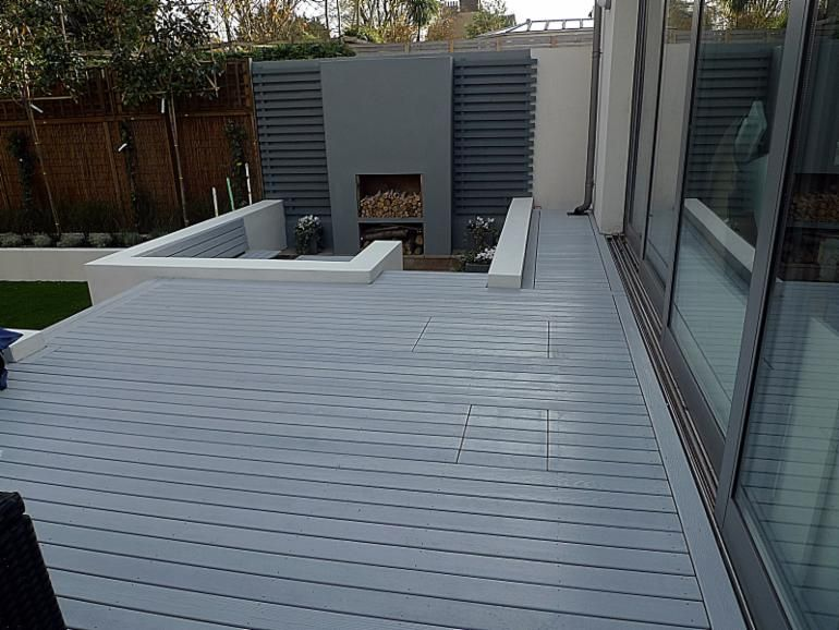 Waterproof Terrace Flooring , Wood Plastic Composite Flooring For Patio