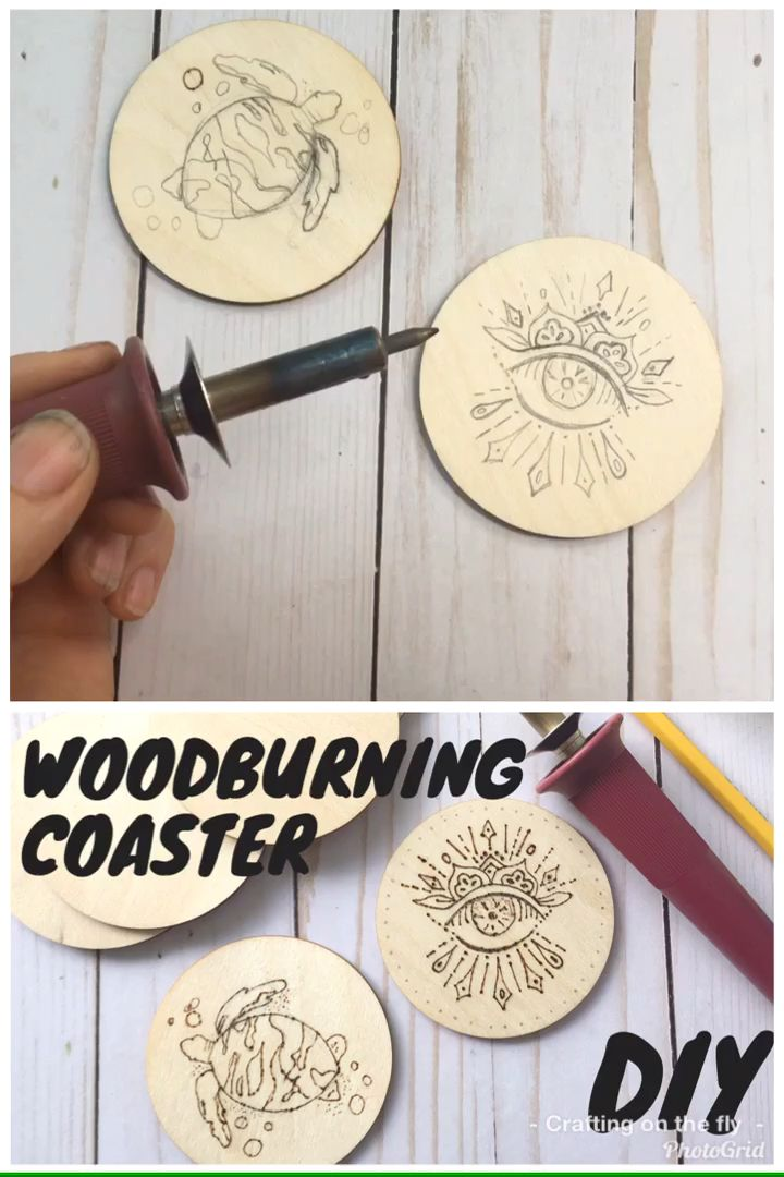 Photo of DIY wood burning coaster tutorial