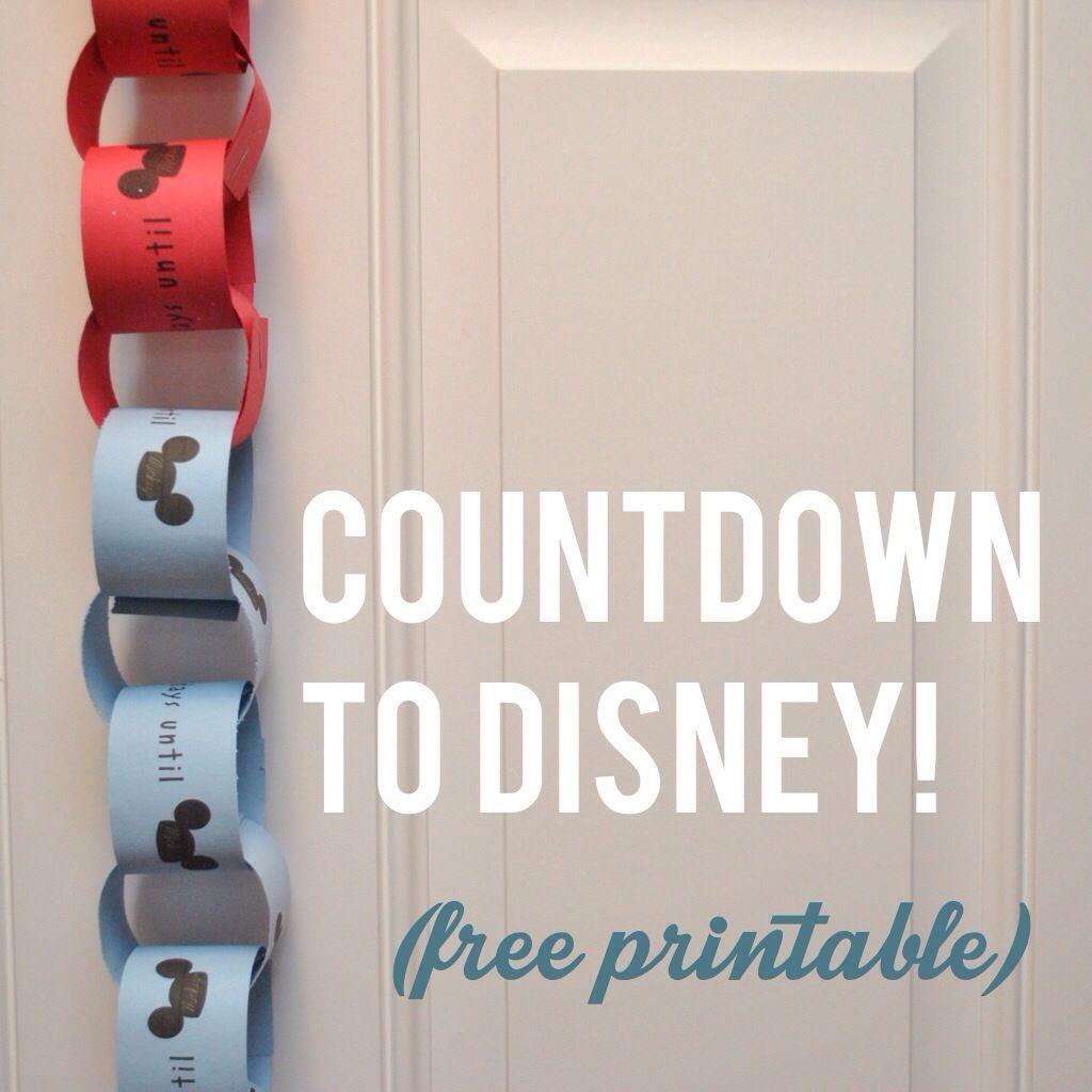 Free Printable Disney Countdown Chain creative geekery