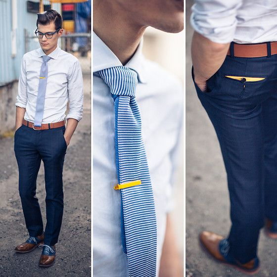 navy blue pants brown shoes