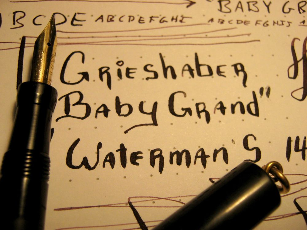 Grieshaber Baby Grand 14K Waterman nib Fountain Pen Chicago Miniature vtg flex #Grieshaber
