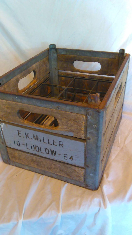 Ek Miller Vintage Wooden Milk Bottle Crate Pick Up Only By Vermontpicker802 On Etsy Crates Milk Crates Milk Bottle