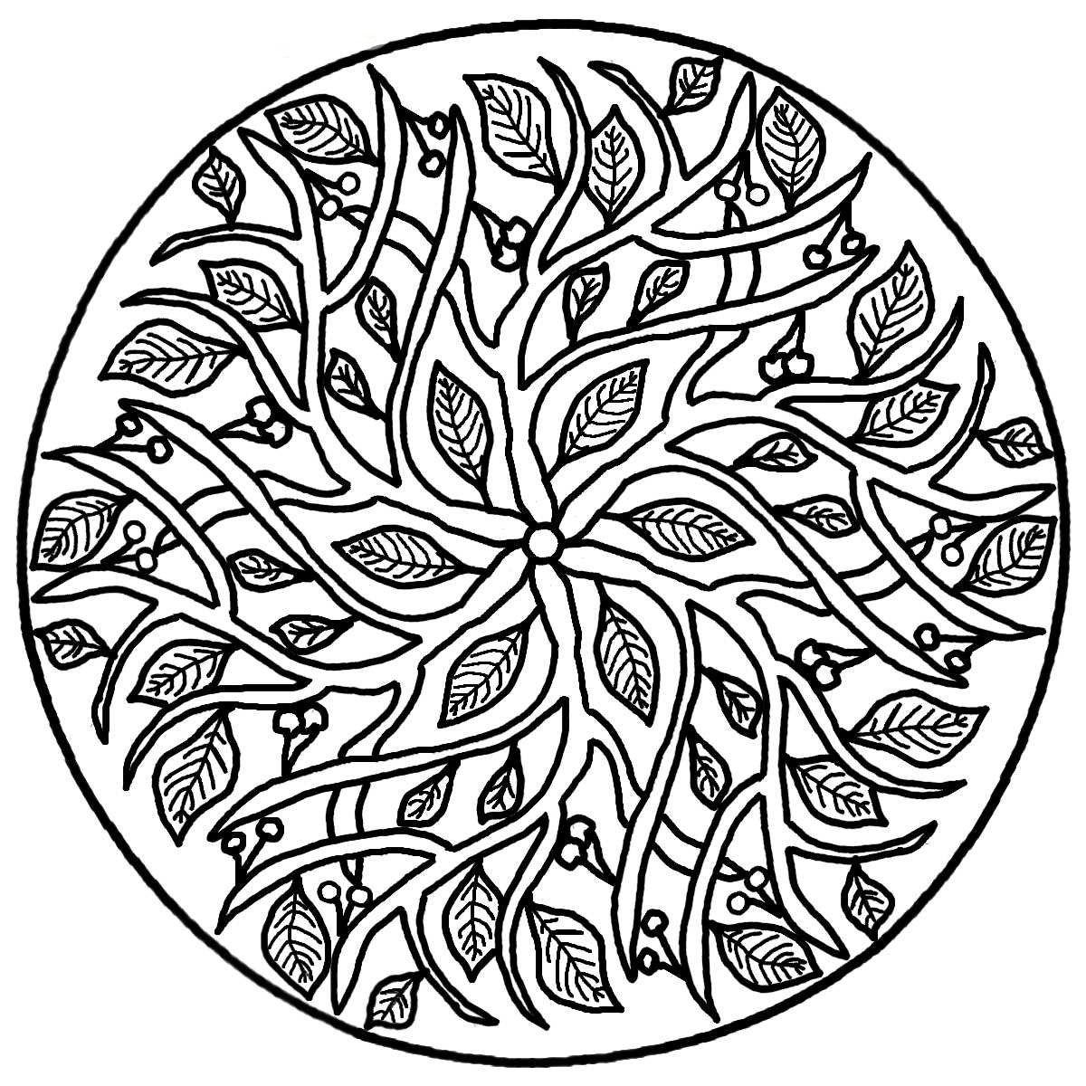 mandala de flores para colorear e imprimir | mandalas para colorear ...