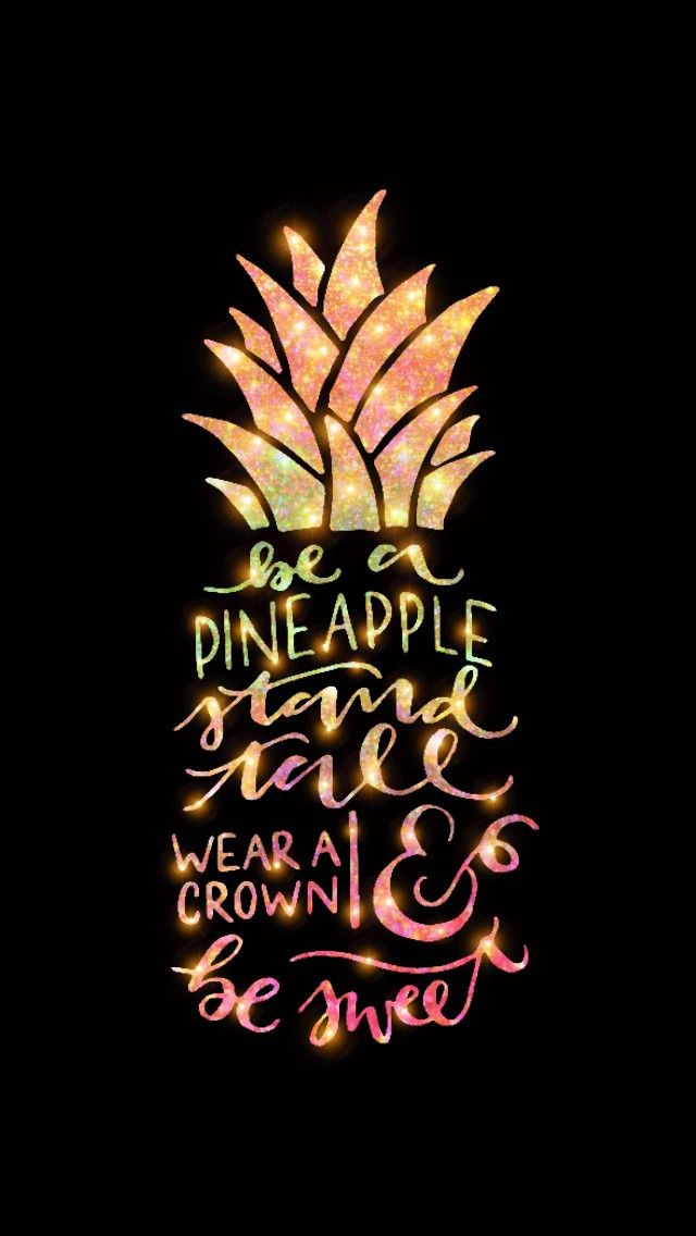 Glittery Pineapple Quote Made By Me Galaxy Glitter