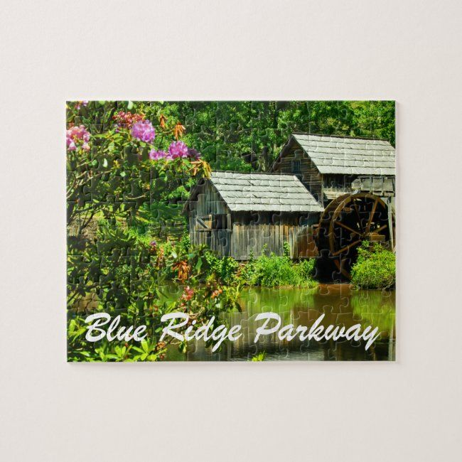 Historic Mabry Mill Spring Blue Ridge Parkway Jigsaw Puzzle | Zazzle.com