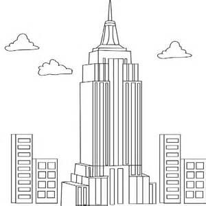 skyscrapers Colouring Pages | Empire state building ...