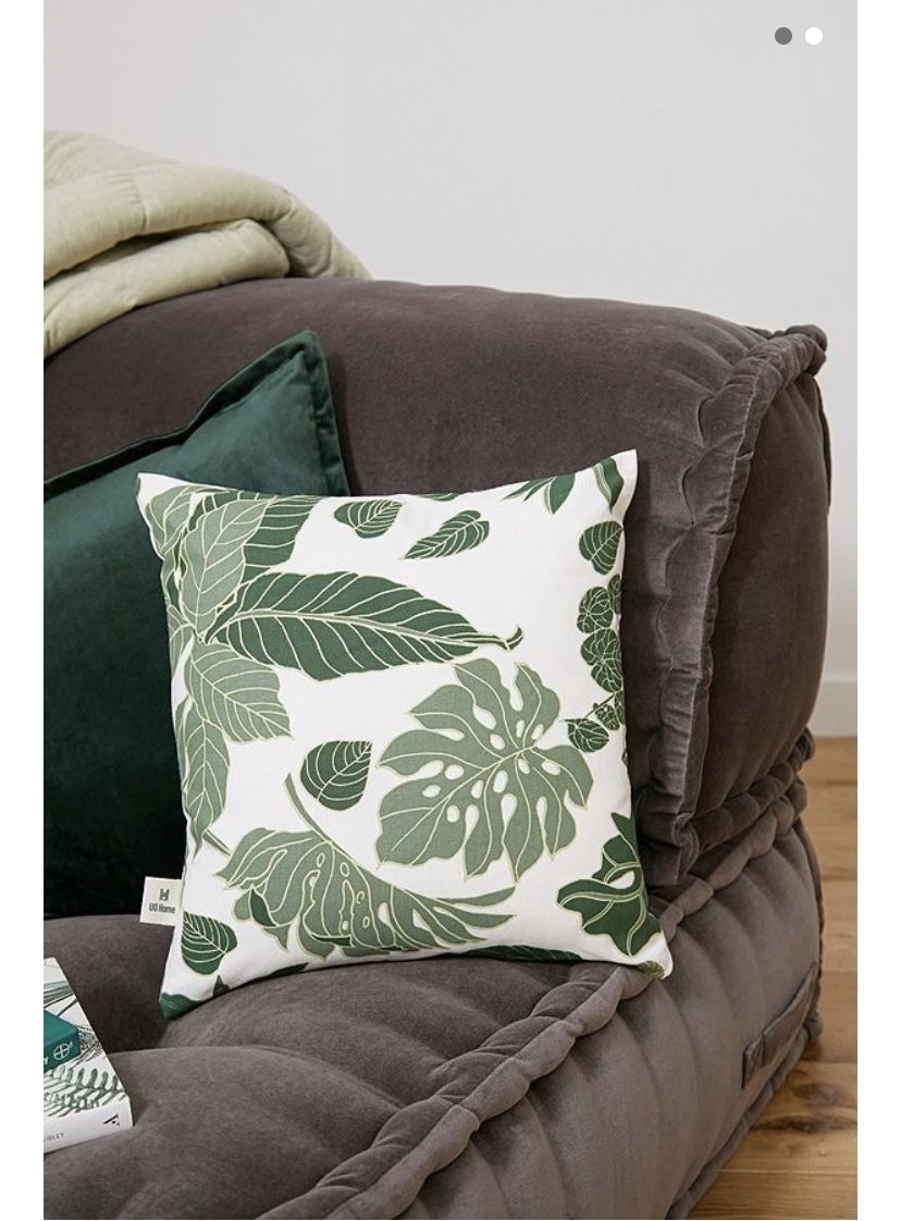 Jungle Leaves Cushion in 2020 Cushions, Printed cushions