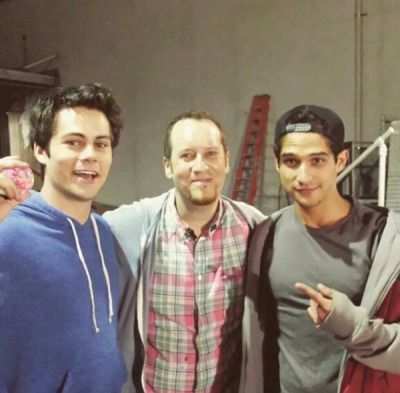 Teen Wolf cast - on the set  of Teen Wolf 5b.