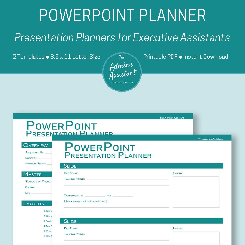 Powerpoint Planning Worksheet
