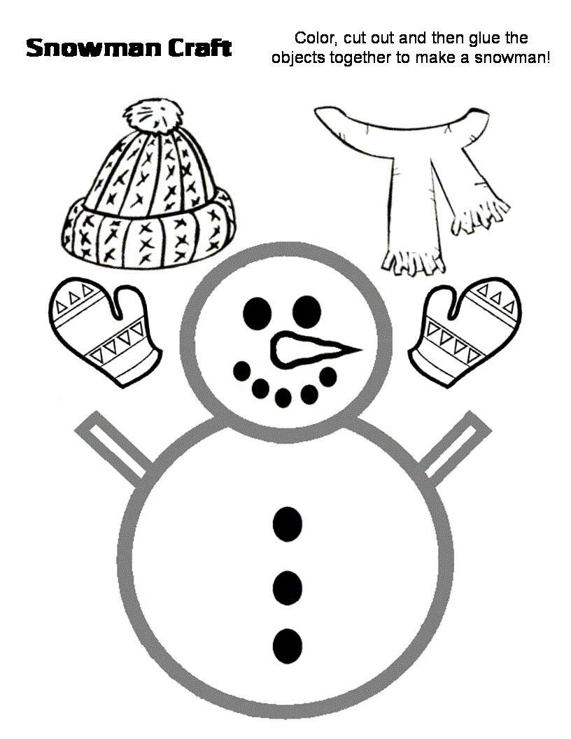 Muñeco de nieve recortable para navidad | Manualidades Infantiles ...